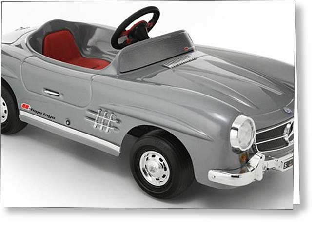 Boy Greeting Cards - Mercedes Toy Art Greeting Card by Marvin Blaine