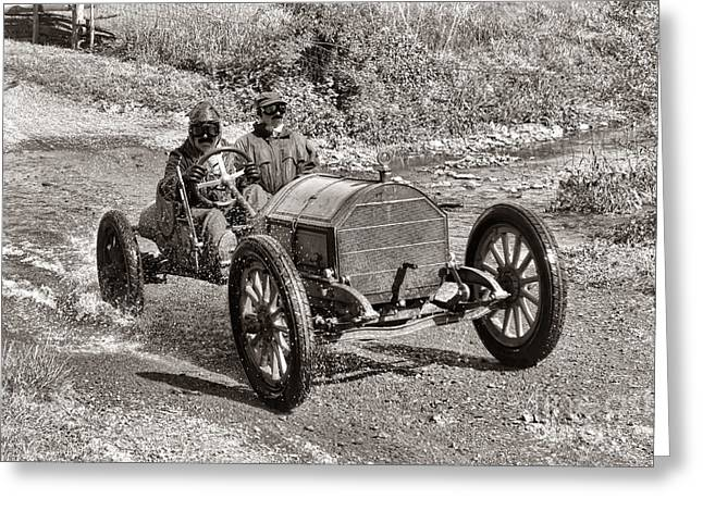 Period Greeting Cards - Mercer Raceabout Greeting Card by Olivier Le Queinec