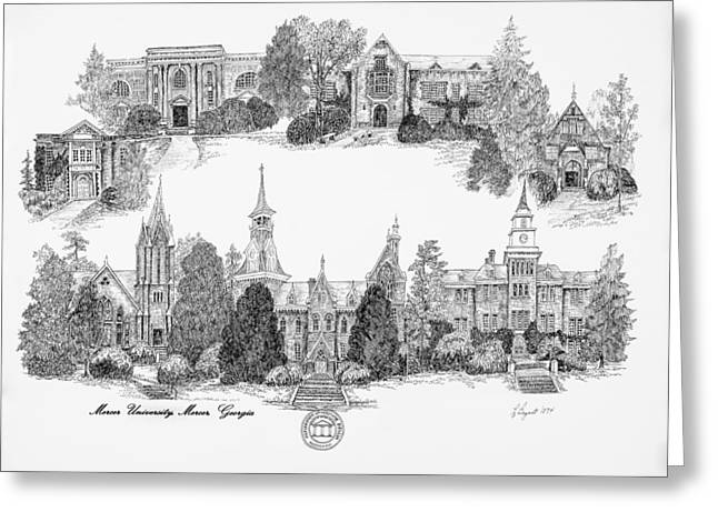 Bryant Greeting Cards - Mercer University Greeting Card by Jessica  Bryant