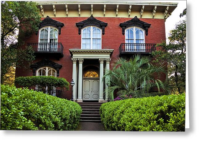 Juliette Low Greeting Cards - Mercer - Williams House Greeting Card by Diana Powell