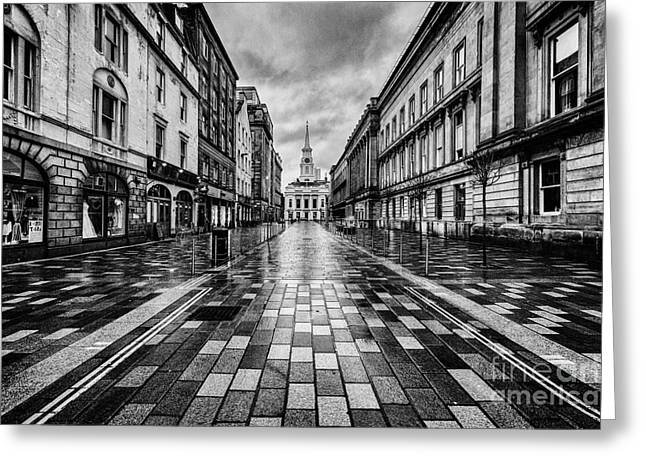 Traffic Greeting Cards - Merchant City Glasgow Greeting Card by John Farnan