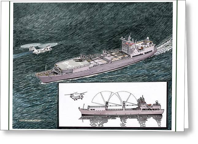 Merchant Ship Greeting Cards - Merchant Marine Sea Lift Greeting Card by Jack Pumphrey