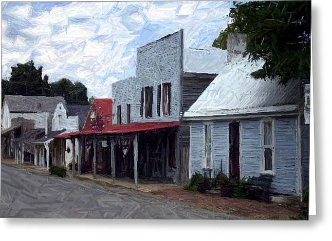 Hills Tapestries - Textiles Greeting Cards - Merchants Row - Perryville KY Greeting Card by Thia Stover
