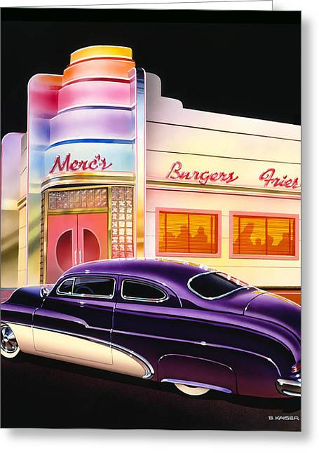 Burger Greeting Cards - Mercs Burgers Greeting Card by Bruce Kaiser