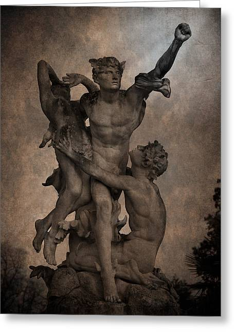 Loriental Greeting Cards - Mercury carrying Eurydice to the Underworld Greeting Card by Loriental Photography