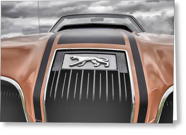 Mercury Hot Rod Greeting Cards - Mercury Cougar Greeting Card by Thomas Young