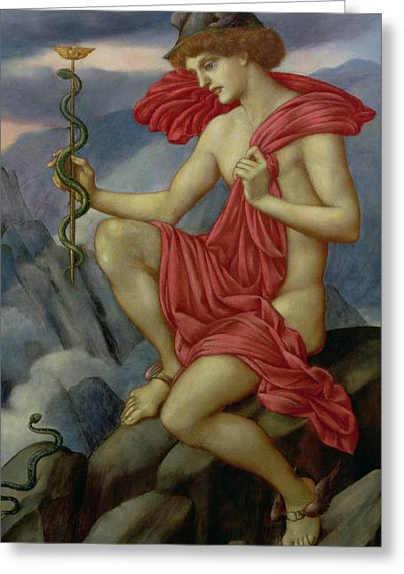 Williams Greeting Cards - Mercury Greeting Card by Evelyn De Morgan
