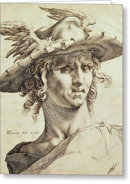 Profit Greeting Cards - Mercury Greeting Card by Hendrik Goltzius