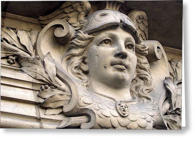Greek Sculpture Greeting Cards - Mercury in Paris Greeting Card by Jean Hall