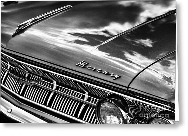 Front End Greeting Cards - Mercury Monochrome Greeting Card by Tim Gainey