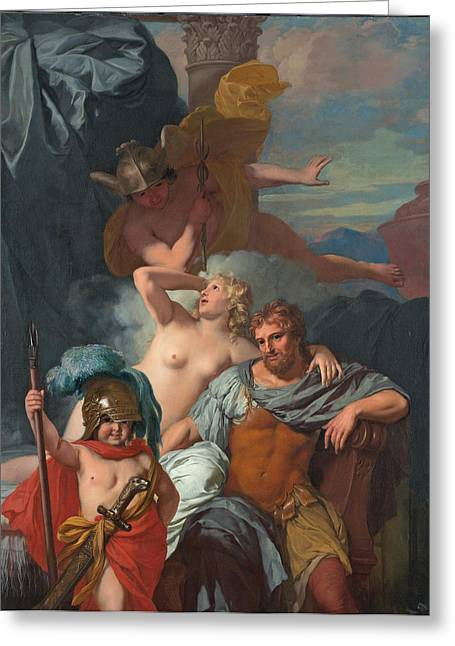Ordering Greeting Cards - Mercury ordering Calypso to release Odysseus Greeting Card by Gerard de Lairesse