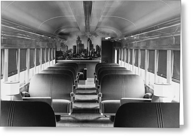 Mercury Train Coach Interior Greeting Card by Underwood Archives