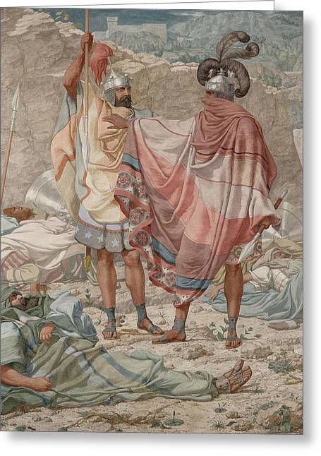 Gladiator Greeting Cards - Mercy David Spareth Sauls Life, 1854 Oil On Canvas Greeting Card by Richard Dadd