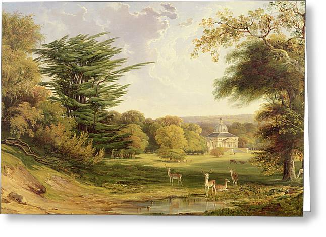 18th Century Greeting Cards - Mereworth Park, Kent Greeting Card by John F. Tennant
