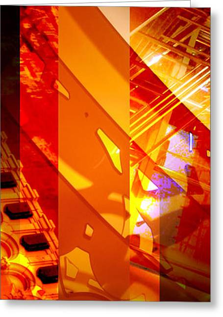 Grate Greeting Cards - Merged - Arched Orange Greeting Card by Jon Berry