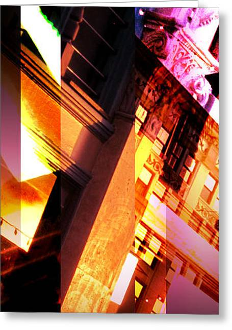 Merging Greeting Cards - Merged - Arched Pink Greeting Card by Jon Berry