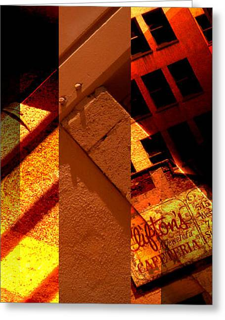 Recently Sold -  - Merging Greeting Cards - Merged - Orange City Greeting Card by Jon Berry
