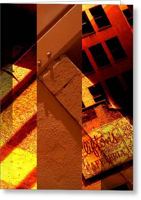 Layers Greeting Cards - Merged - Orange City Greeting Card by Jon Berry