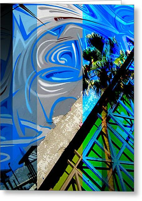 Grate Greeting Cards - Merged - Painted Blues Greeting Card by Jon Berry