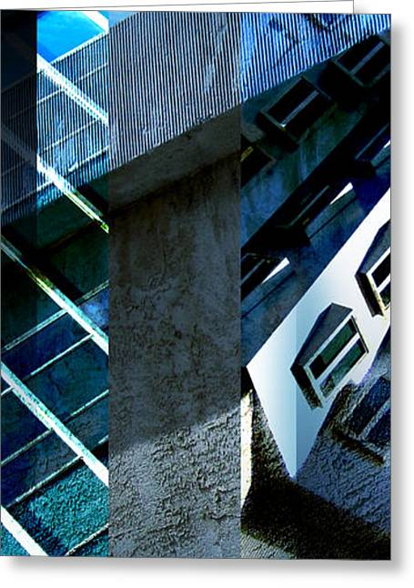 Merging Greeting Cards - Merged - Tower Blues Greeting Card by Jon Berry