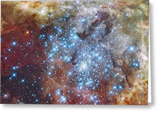 Merging Greeting Cards - Merging clusters of stars Greeting Card by Rod Jones
