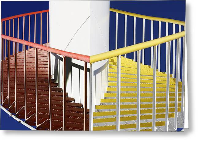 Merging Steps Greeting Card by Robert Woodward