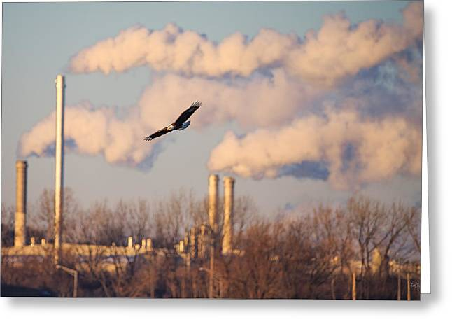 Smokestack Greeting Cards - Merging Worlds Greeting Card by Everet Regal
