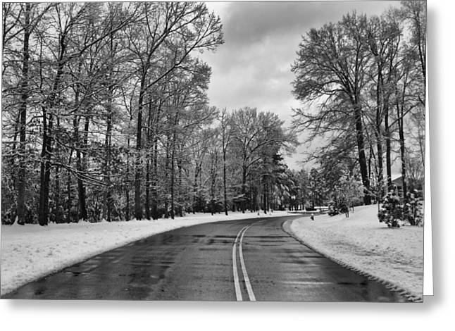 Snowmageddon Greeting Cards - Meridian Parkway Greeting Card by Ben Shields