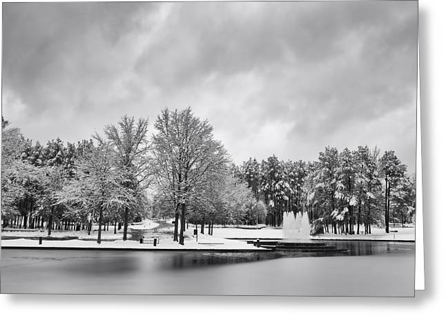 Snowmageddon Greeting Cards - Meridian Parkway Winter Greeting Card by Ben Shields