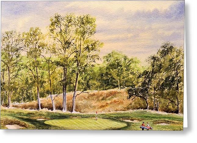 Merion Golf Club Greeting Card by Bill Holkham