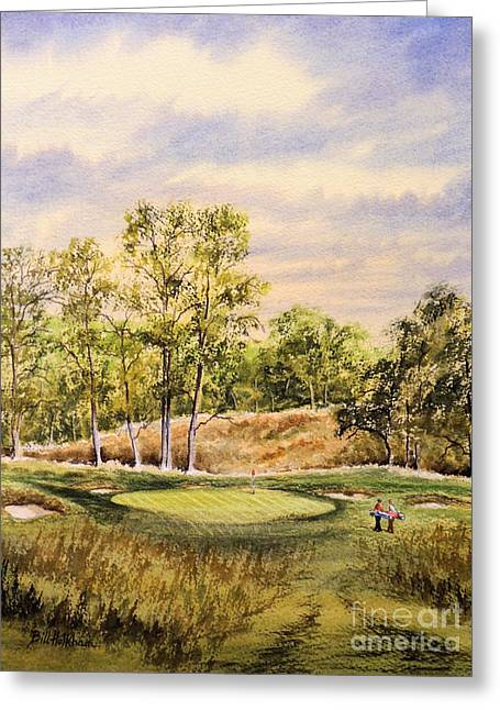 Playing Golf Greeting Cards - Merion Golf Club Greeting Card by Bill Holkham