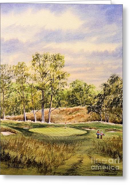 Golf Art Greeting Cards - Merion Golf Club Greeting Card by Bill Holkham