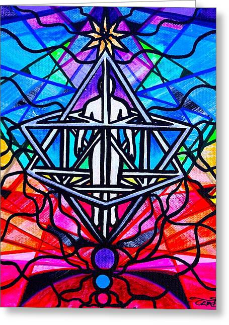 Geometric Image Greeting Cards - Merkabah Greeting Card by Teal Eye  Print Store