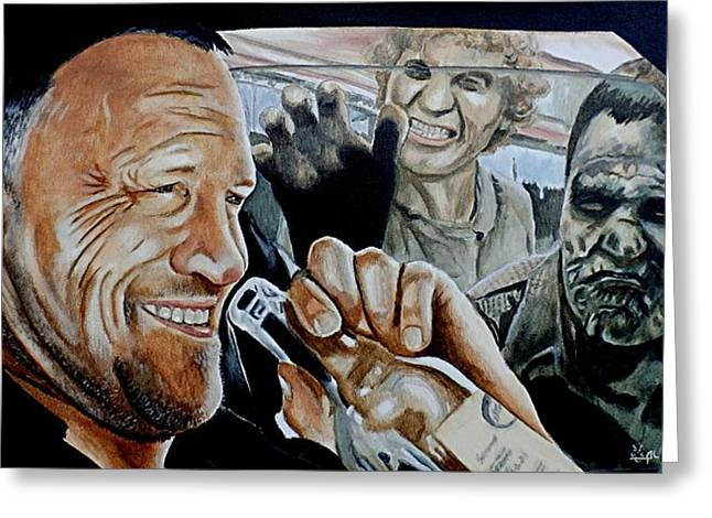 Merle's Last Stand Greeting Card by Al  Molina