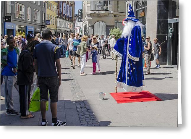 Merlin The Magician Greeting Cards - Merlin - Nyhavn Shopping - Copenhagen Denmark Greeting Card by Jon Berghoff