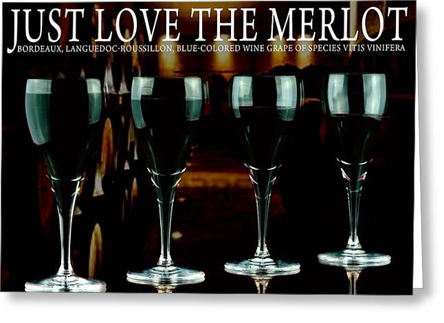 Pinot Noir Greeting Cards - Merlot wine Greeting Card by Toppart Sweden