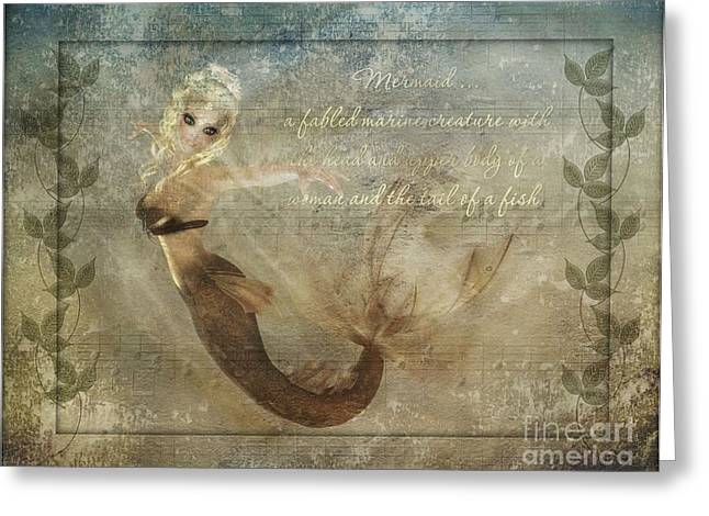 Becky Digital Greeting Cards - Mermaid-2 PhotoArt Greeting Card by Becky Hayes