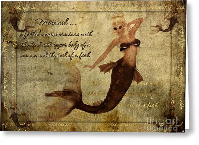 Becky Digital Greeting Cards - Mermaid-3 PhotoArt Greeting Card by Becky Hayes