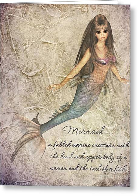 Becky Digital Greeting Cards - Mermaid-4 PhotoArt Greeting Card by Becky Hayes