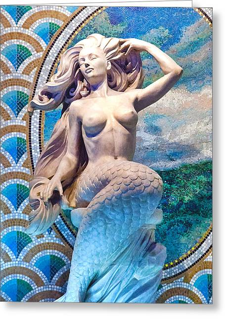 Decorative Fish Greeting Cards - Mermaid Greeting Card by Art Block Collections