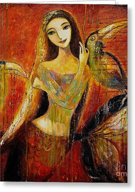 Mermaid Bride Greeting Card by Shijun Munns