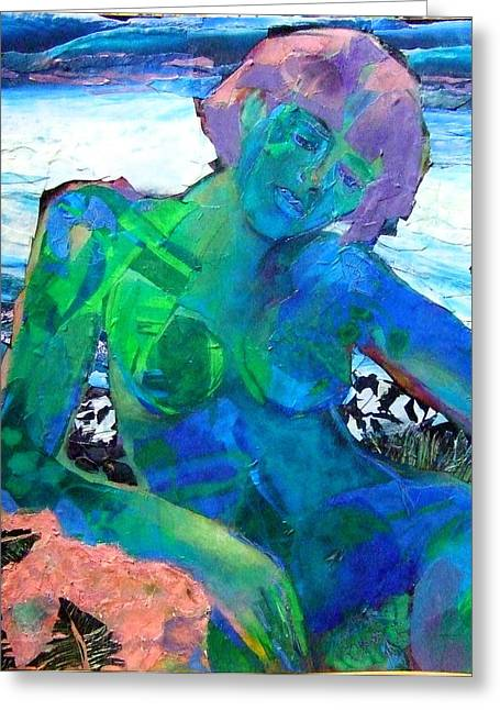 Recently Sold -  - Diane Fine Greeting Cards - Mermaid Greeting Card by Diane Fine