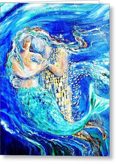Underworld Human Greeting Cards - Mermaid Dreamer  Greeting Card by Trudi Doyle