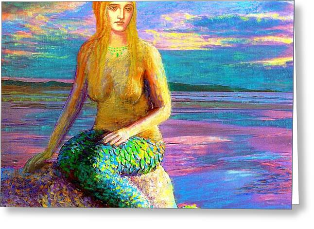 Mermaid Magic Greeting Card by Jane Small