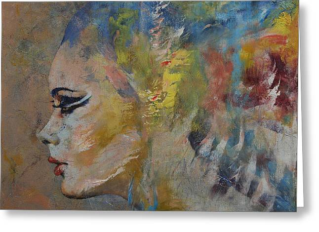 Coral Reef Greeting Cards - Mermaid Greeting Card by Michael Creese