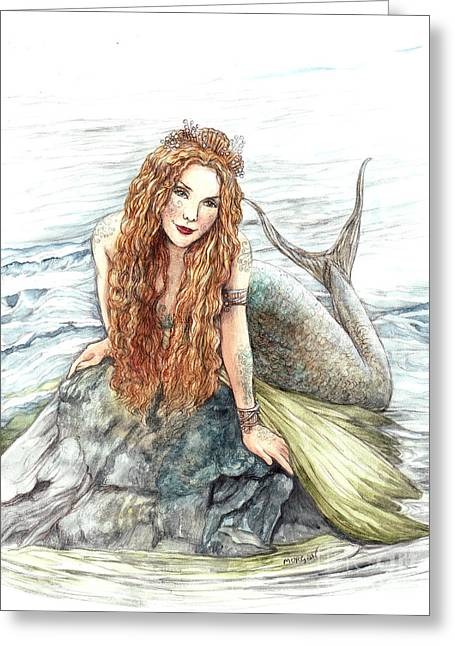 Mermaid Greeting Card by Morgan Fitzsimons