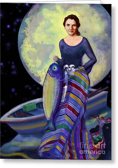 Mermaid Mother Greeting Card by Carol Jacobs