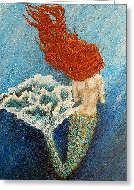 The Little Mermaid Greeting Cards - Mermaid Greeting Card by Nancy Quiaoit