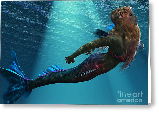 Seductress Greeting Cards - Mermaid of the Sea Greeting Card by Corey Ford