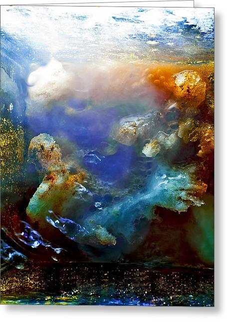 Angel Blues Greeting Cards - Mermaid Greeting Card by Petros Yiannakas